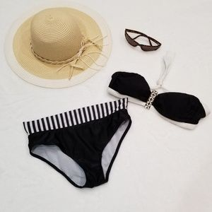 Trina Turk Black and White Bikini
